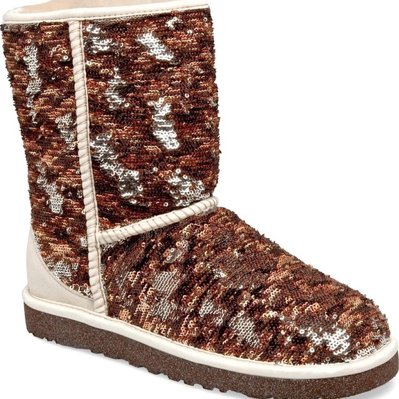 f0c78965f109 UGG Shoes | Reversible Sequin Boots Sequin S | Poshmark